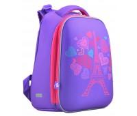 Рюкзак каркасный YES Paris H-12 школьный фиолетовый