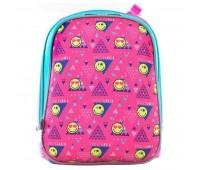 Рюкзак каркасный Yes Smiley H-12 школьный розовый
