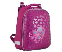 Рюкзак каркасный YES Heart to heart  H-12 школьный розовый