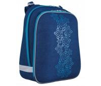 Рюкзак каркасный YES Blue Weave H-12 школьный синий