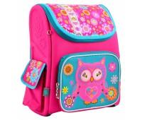 Рюкзак-ранец каркасный YES Owl H-17 школьный розовый