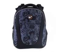 Рюкзак каркасный YES Funny monster H-28 школьный черный