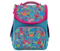 Рюкзак каркасный Smart Funny owls PG-11 школьный голубой