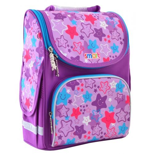 Рюкзак каркасный Smart Funny Stars PG-11 школьный фиолетовый