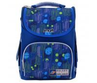 Рюкзак каркасный Smart Galaxy PG-11 школьный синий