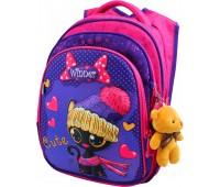 Рюкзак  Winner Stile 8056 школьный розовый с фиолетовым