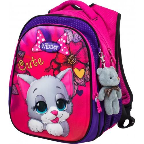 Рюкзак  Winner Stile 8070 школьный розовый