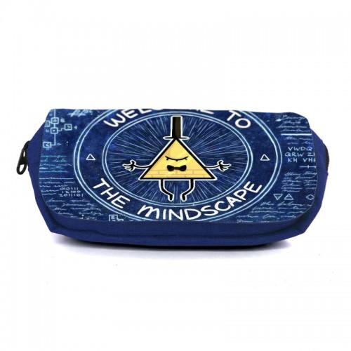 Школьный пенал Гравити Фолз 0023 (Gravity Falls) органайзер универсальный (GFS-0023-blu) синий