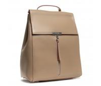 Рюкзак женский кожаный Alex Rai 03-01 373 темный бежевый