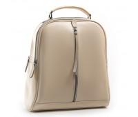 Рюкзак женский кожаный Alex Rai 03-01 8694-3 бежевый