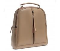 Рюкзак женский кожаный Alex Rai 03-01 8694-3 темный бежевый