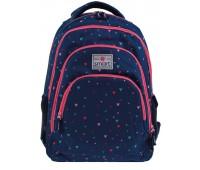 Рюкзак подростковый Smart Heart chaos  SG-28 школьный синий