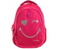 Рюкзак YES Step One Smiley World Т-22 подростковый розовый