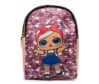 Рюкзак Cappuccino Toys L-pud-PP1 LOL для девочек пудровый