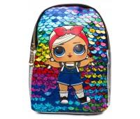 Рюкзак Cappuccino Toys L-silP6 LOL для девочек серебро