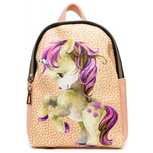 Рюкзак Cappuccino Toys COOL Unicorn для девочек пудровый