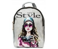 Рюкзак Cappuccino Toys COOL Fashion Girls-4 для девочек серебро