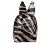 Рюкзак Cappuccino Toys Mini-Zebra с ушками для девочек золотой
