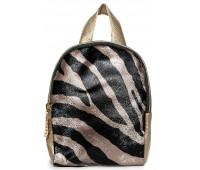 Рюкзак Cappuccino Toys Mini-Zebra для девочек золотой