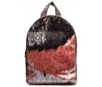 Рюкзак Cappuccino Toys PBud-1 для девочек с розовыми пайетками бронзовый