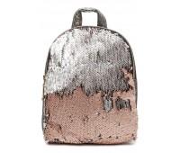 Рюкзак Cappuccino Toys PBud-2 для девочек с пудровыми пайетками бронзовый