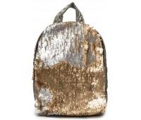 Рюкзак Cappuccino Toys PBud-3 для девочек с золотыми пайетками бронзовый