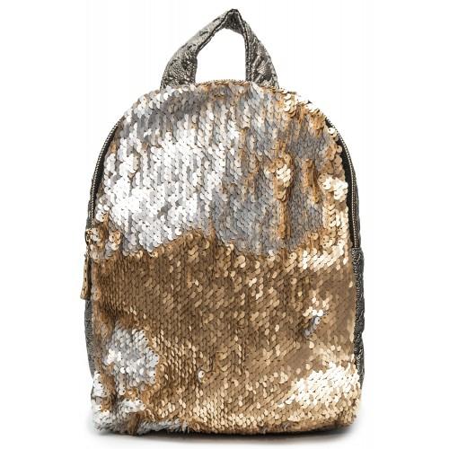 Рюкзак Cappuccino Toys PBud-3 для девочек с золотыми пайетками