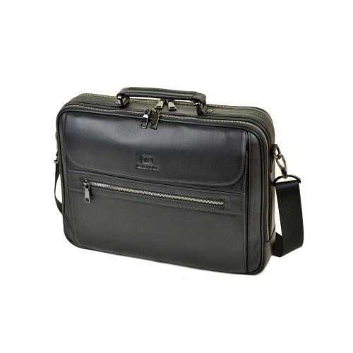 Сумка BRETTON BE 2003-1 портфель мужской кожаный черный