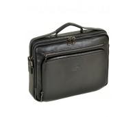 Сумка BRETTON BE 3492-8 портфель мужской кожаный черный