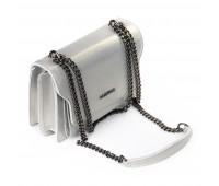 Сумка ALEX RAI 06-1 8543 женская кожаная серебро