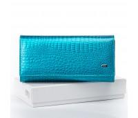 Кошелек SERGIO TORRETTI W501 женский кожаный голубой