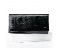 Кошелек SERGIO TORRETTI W501 женский кожаный черный