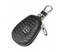 Ключница F625 Opel мужская кожаная черная для авто