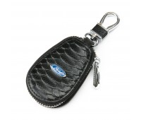 Ключница F625 Ford мужская кожаная черная для авто