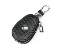 Ключница F625 BMW мужская кожаная черная для авто
