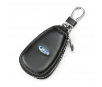 Ключница F633 Ford мужская кожаная черная для авто