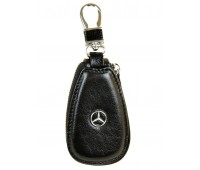 Ключница F633 Mercedes мужская кожаная черная для авто