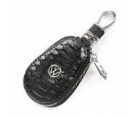 Ключница F625 Volkswagen мужская кожаная черная для авто