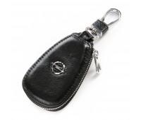 Ключница F633 Opel мужская кожаная черная для авто