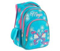 Рюкзак YES Magic S-27 школьный голубой с розовым