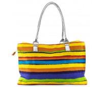Сумка пляжная Fantasy Accessories разноцветная текстильная