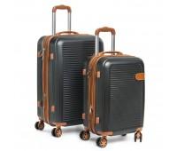 Комплект чемоданов PODIUM 2/1 ABS-пластик 8387 серый