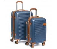 Комплект чемоданов PODIUM 2/1 ABS-пластик 8387 синий