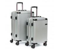 Комплект чемоданов PODIUM 2/1 ABS-пластик 04 серый