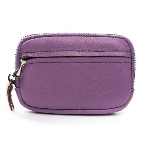 Ключница Baigou ZTN5-3 женская кожаная фиолетовая