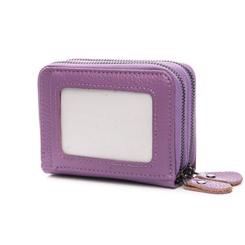 Кошелек Baigou H863-3 женский кожаный фиолетовый