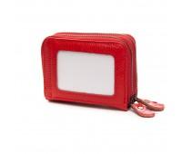 Кошелек визитница Baigou H863-2 женский кожаный красный