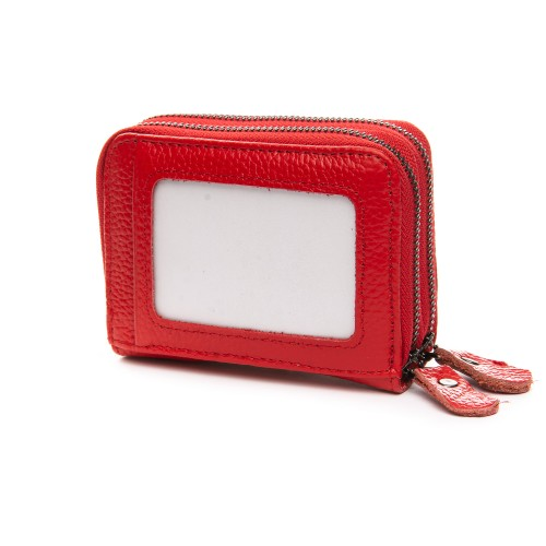 Кошелек Baigou H863-2 женский кожаный красный