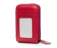 Кошелек Baigou H862-6 женский кожаный красный