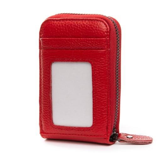 Кошелек Baigou H862-2 женский кожаный красный